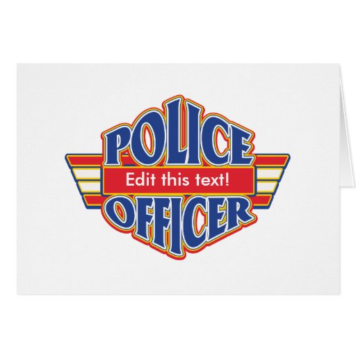 Oficial de policía de encargo felicitacion