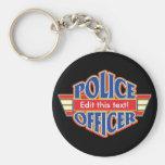 Oficial de policía de encargo llaveros