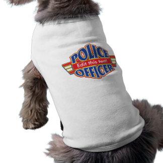 Oficial de policía de encargo camisetas de perrito