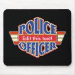 Oficial de policía de encargo tapetes de ratón