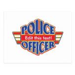 Oficial de policía de encargo tarjeta postal