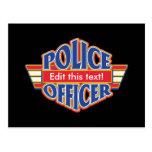 Oficial de policía de encargo tarjetas postales