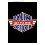 Oficial de policía de encargo tarjeton