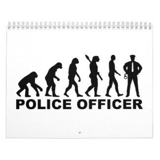 Oficial de policía de la evolución calendarios