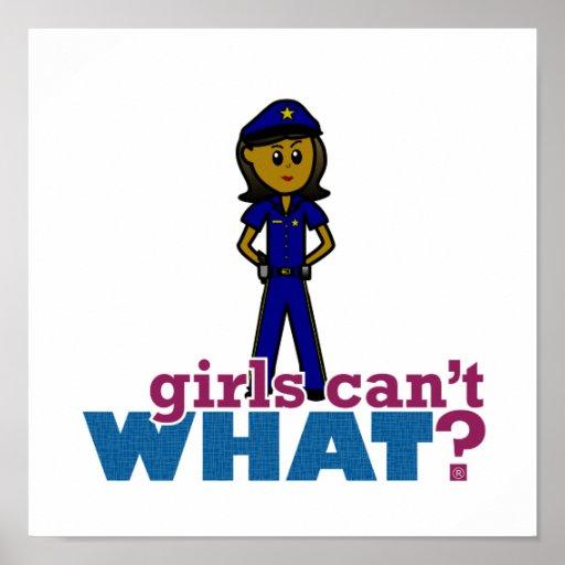 Oficial de policía de la mujer póster