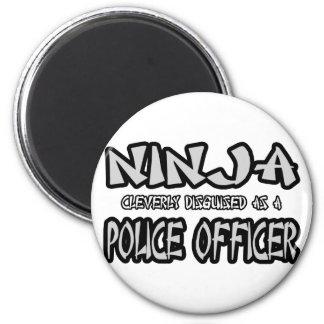 Oficial de policía de Ninja… Imán Redondo 5 Cm