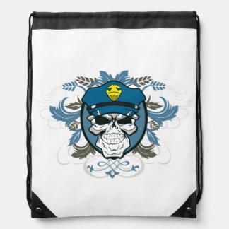 Oficial de policía del cráneo mochilas