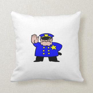 Oficial de policía del dibujo animado cojín