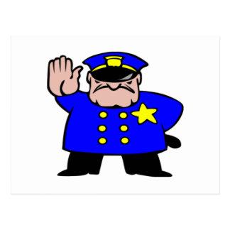 Oficial de policía del dibujo animado postales