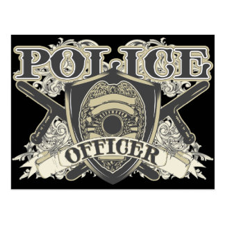Oficial de policía del vintage tarjeta postal
