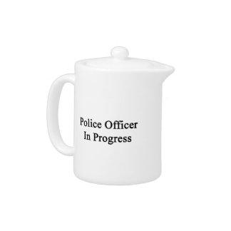 Oficial de policía en curso