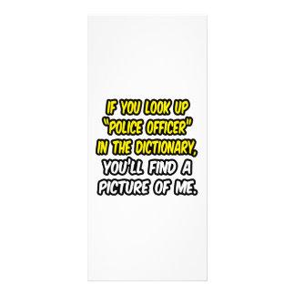 Oficial de policía en diccionario… mi imagen diseños de tarjetas publicitarias
