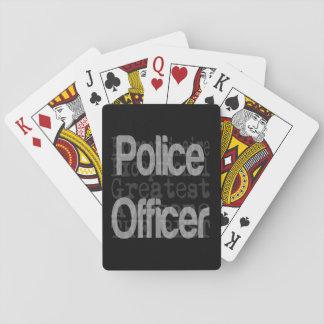 Oficial de policía Extraordinaire Barajas De Cartas
