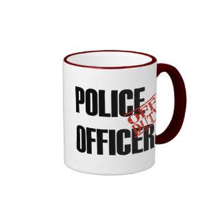 Oficial de policía FUERA DE SERVICIO Taza A Dos Colores