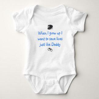 Oficial de policía futuro body para bebé