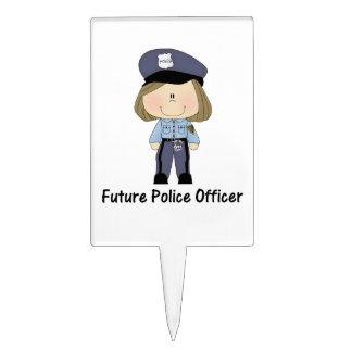 oficial de policía futuro chica decoraciones para tartas