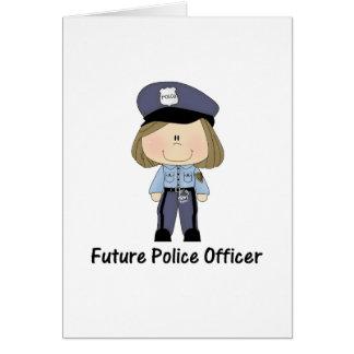 oficial de policía futuro (chica) tarjeta pequeña