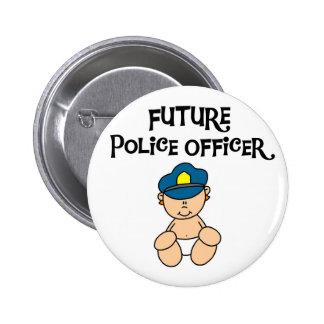 Oficial de policía futuro del bebé pin redondo 5 cm