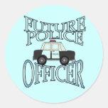 Oficial de policía futuro del crucero de la policí pegatinas