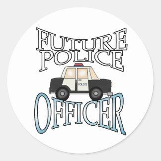 Oficial de policía futuro del crucero de la policí pegatina