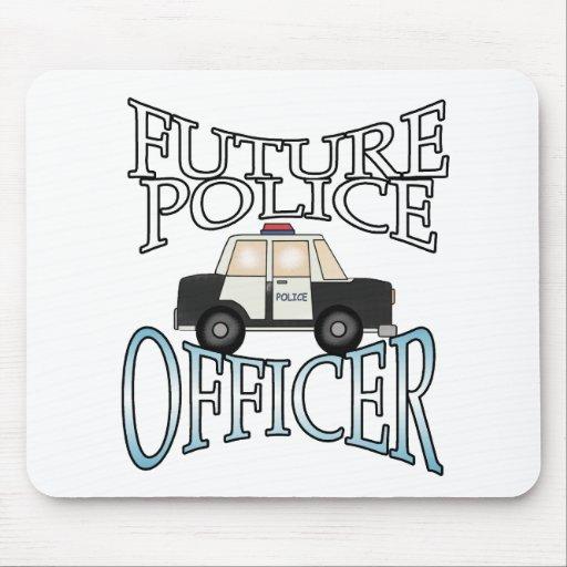 Oficial de policía futuro del crucero de la policí tapete de ratón