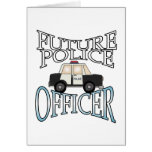 Oficial de policía futuro del crucero de la policí tarjeta