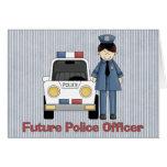 Oficial de policía futuro - hembra tarjeta