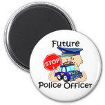 Oficial de policía futuro imanes para frigoríficos