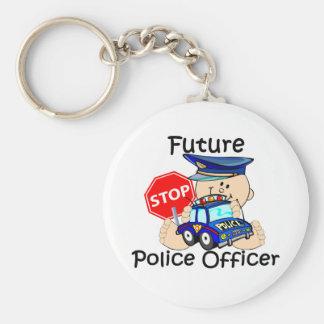 Oficial de policía futuro llavero