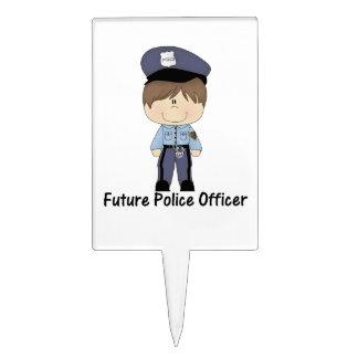 oficial de policía futuro muchacho palillos de tarta