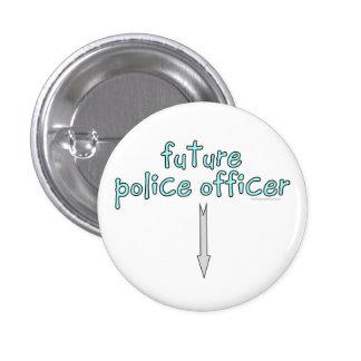 oficial de policía futuro pin redondo de 1 pulgada