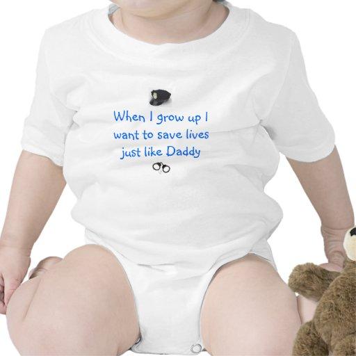 Oficial de policía futuro traje de bebé