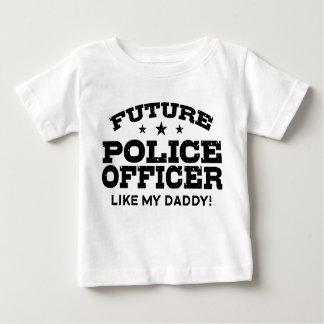 Oficial de policía futuro playera de bebé