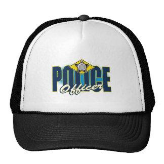 Oficial de policía gorros bordados