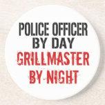 Oficial de policía Grillmaster Posavasos Personalizados