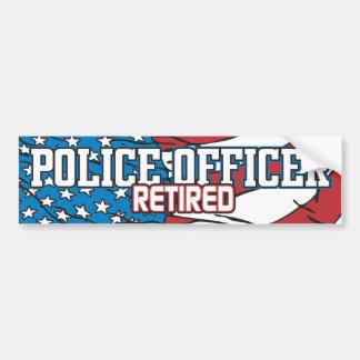 Oficial de policía jubilado pegatina de parachoque