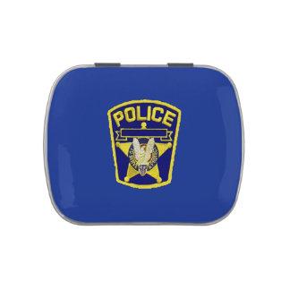 Oficial de policía jarrones de caramelos
