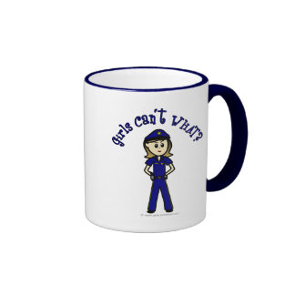Oficial de policía ligero taza a dos colores
