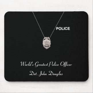 Oficial de policía Mousepad Tapete De Ratón