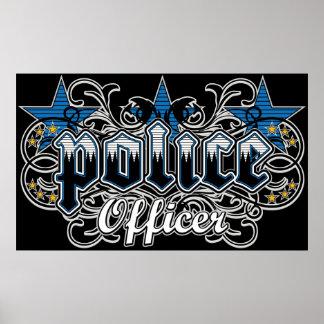 Oficial de policía ornamental póster
