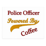 Oficial de policía Pwered por el café Postal