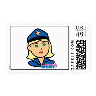 Oficial de policía franqueo