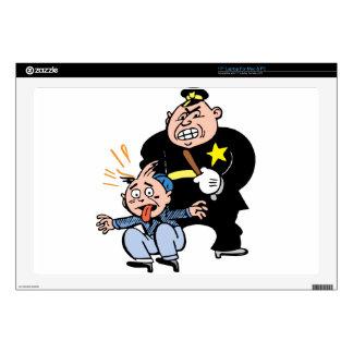 Oficial de policía y sospechoso 43,2cm portátil calcomanía
