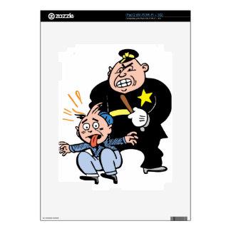 Oficial de policía y sospechoso iPad 2 calcomanías