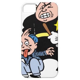 Oficial de policía y sospechoso iPhone 5 carcasa