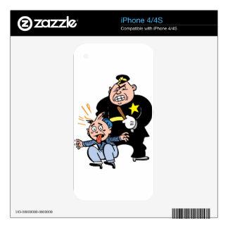 Oficial de policía y sospechoso skins para eliPhone 4