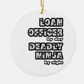 Oficial de préstamo. Ninja mortal Ornamento Para Arbol De Navidad