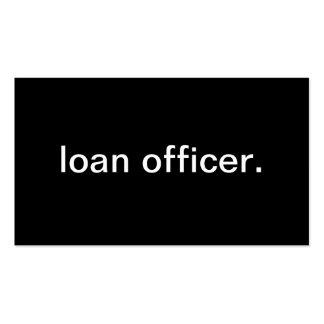 Oficial de préstamo tarjetas de visita