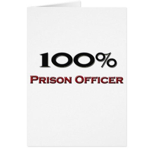Oficial de prisión del 100 por ciento tarjetas