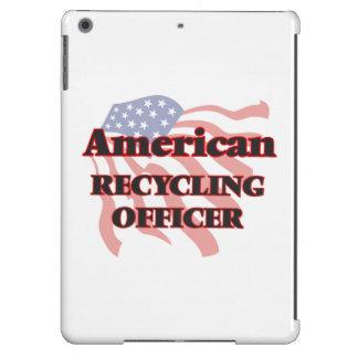 Oficial de reciclaje americano funda para iPad air